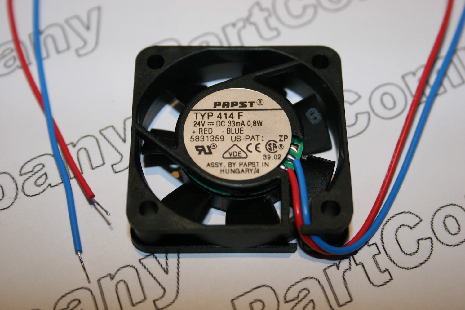 414f Emb Papst 24v Dc Fan 40mm 08w Partcompany Current Relay