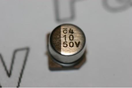 10uF 50V Capacitor Nichicon SMD Aluminium Electrolytic