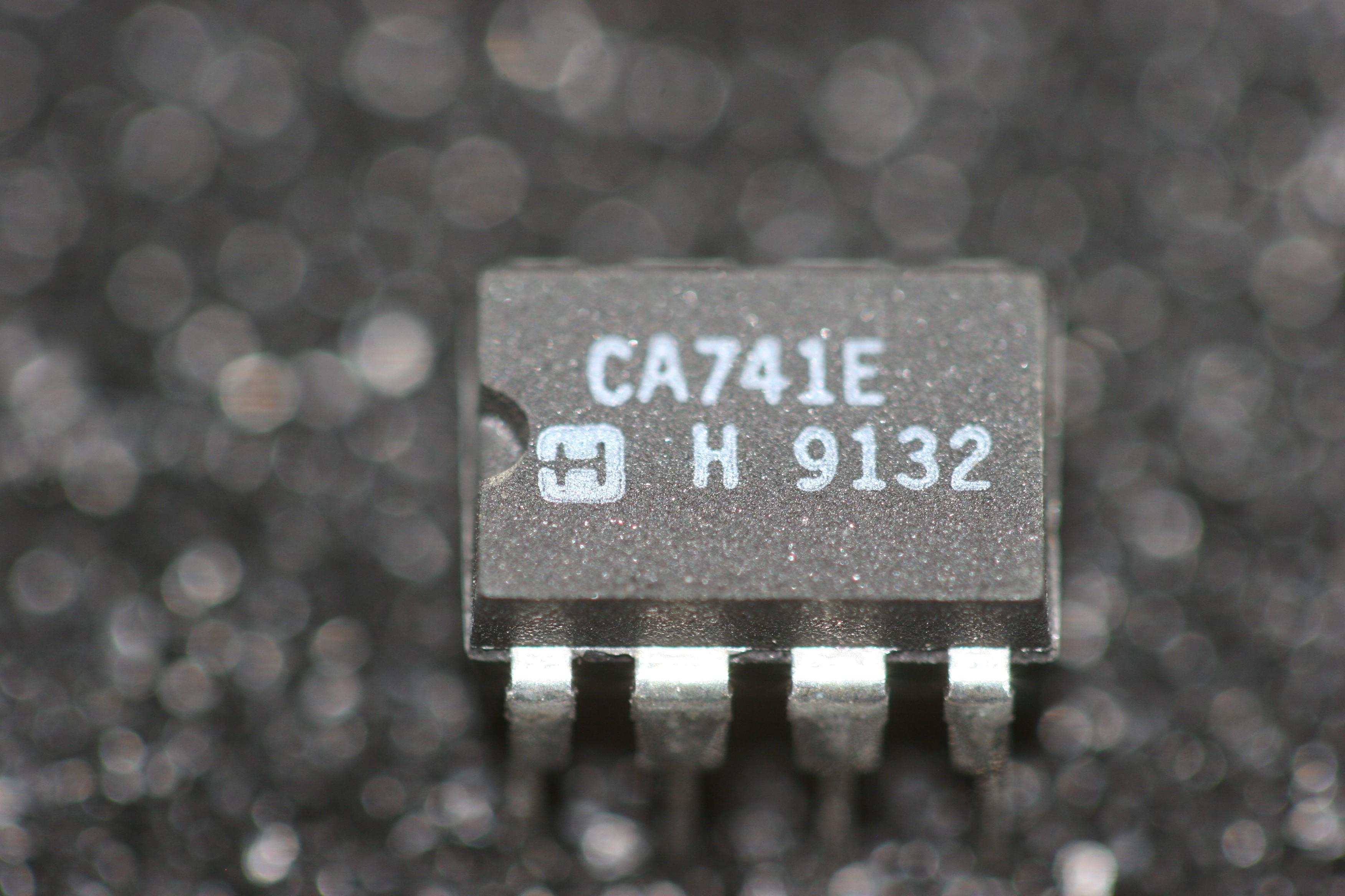 Ca741e Harris High Gain Operational Amplifier Partcompany Opamp Multivibrator
