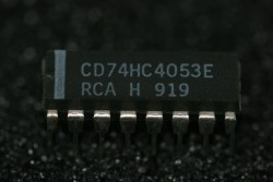 CD74HC4053E RCA High Speed CMOS Logic Analog Multiplexer/Demultiplexer