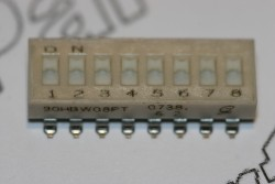 90HBW08PT Grayhill DIL Switch 8 Way Slide SPST Low Profile SMD