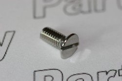 DIN963 Slotted Flat Head Countersunk Machine Screw A2 Passivated M4 x 10