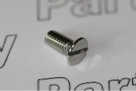 DIN963 Slotted Flat Head Countersunk Machine Screw A2 Passivated M4 x 10