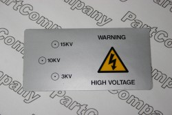 High Voltage Equipment Warning Label 3KV, 10KV, 15kV