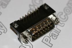 SDAX15PNTD ITW McMurdo D Sub Plug R/A PCB Mounting 15 Way
